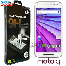 100% Genuine Tempered Glass Film Screen Protector For Motorola Moto G 3rd Gen
