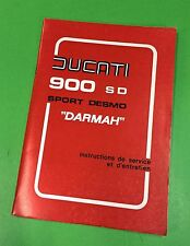 Ducati bevel twins 900 Darmah  manual original New Old Stock Winter Sale price