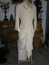 Vintage 1926 Mother of the Bride Glamerous Tea Formal Dress Art Nouveau size S