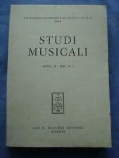 ACCADEMIA NAZIONALE DI SANTA CECILIA-STUDI MUSICALI-ANNO IX-1980-N. 1-OLSCHKI