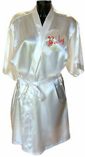 Personalised Ladies Satin Dressing Gown / Robe Christmas Present Stocking Filler