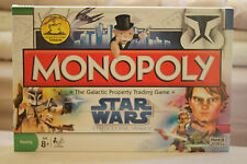 BRAND NEW SHRINK WRAPPED 2008 PARKER MONOPOLY STAR WARS THE CLONE WARS EDITION