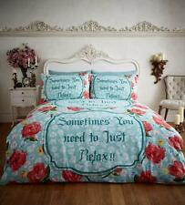 Relax Flannel 100% Cotton Duvet Covers Quilt Covers Reversible Bedding Sets