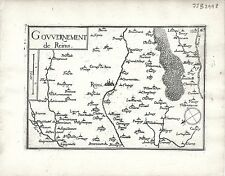 Antique maps, gouvernement de reims