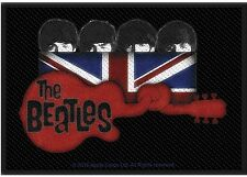 The Beatles Knotted Guitar square sew-on cloth patch  100mm x 70mm (ro)