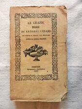 Libro LE GRAZIE DIALOGO Di Antonio Cesari  Su Lingua Italiana Firenze 1847