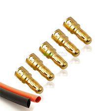 5 x Male RC 3.5mm Gold Bullet Connectors INC Heat Shrink For Motor ESC UK