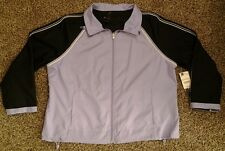 Athletic Women's Yoga SJB Active Reversible Jacket Purple & Black Petite XL NWT