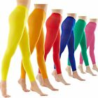 Microfib Color Opaque Footless Ankle Length Support Tights Pantyhose Panty Hose