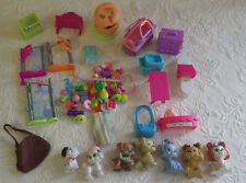 Miniature Animals Dolls Cloths Accessories Toys Plastic Dogs Huge Lot