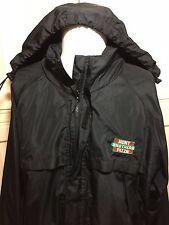 Hunt Brothers Pizza Employee Jacket Uniform Black Size Large Mens Nascar Sponsor
