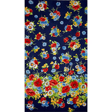 Bette Floral Cotton  Fabric Michael Miller  Navy  Border  BFab