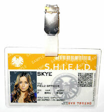 Marvel Agents of Shield Avengers Agent Skye ID Badge Cosplay Prop Gift Halloween