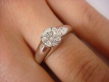 NICE 0.50 CT T.W. MARQUISE & PRINCESS CUT LOW SET LADIES GYPSY STYLE RING