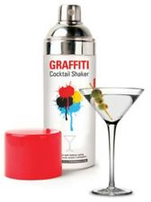 Graffiti Cocktail Shaker Mixer Spray Paint Can by Kikkerland