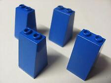 LEGO 3684 @@ Slope 75 2 x 2 x 3 (x4) @@ BLUE @@ BLEU