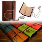 Journal Sketchbook Retro Leather Vintage String Leaf Blank Diary Notebook