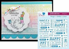 CRAFTER'S COMPANION words embossing folders BIRTHDAY TEXT folder EF6BDTXT 6x6