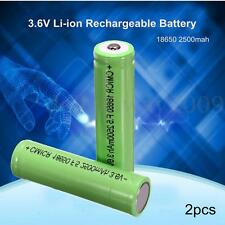 New 2x 18650 2500mah 3.6V Li-ion Rechargeable Battery For Samsung Genuine INR
