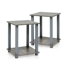 Furinno 12127GYW-GY Simplistic End Table, Set of Two, French Oak Grey End Table