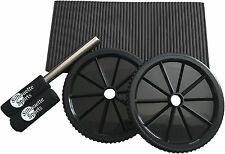 Silhouette Sports Pro Dual Wheel Ab Roller with Comfort Knee Pad - Core Exercise