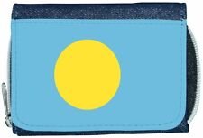 Palau Flag Denim Wallet
