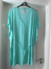 Gorgeous burnout kaftan/kimono - Plus size 20-22 - BNWT - Beach cover up, AQUA