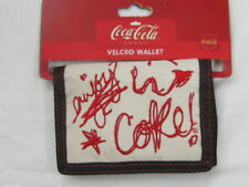 Coca-Cola Wallet - White w/Red Script - NWT  FREE SHIPPING