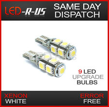 VW Passat B6 B7 06-on ICE White LED CANBUS 501 Side Light Bulbs 9 SMD Xenon