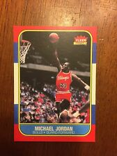 Michael Jordan 1986 87 Fleer Rookie Basketball #57 Not Graded Or Authenticated