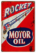 "Reproduction Rocket Motor Oil Sign. 12""x18"""