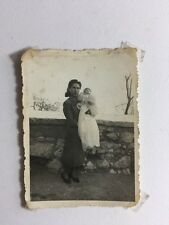 Vintage Real Photograph - #O - Lady & Baby Christening Robe