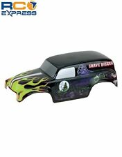 Parma 1/10 Gravedigger 12 Painted Body Shell PAR10165P