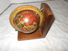 Vtg Italian Old World Map Globe Spinning Large Desk Display Wood Nautical Decor