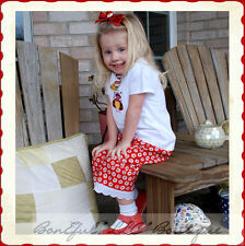 BonEful RTS NEW Boutique Baby China Girl 18 M LadyBug Adoption Top Set Hair*Bow