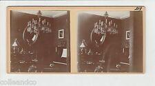 █ Vue Stéréoscopique / Stéréo : Photo de l'intérieur d'un appartement Piano 1910