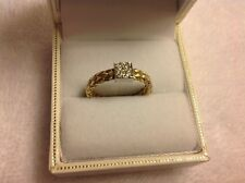 Roberto Coin 18k Yellow and White Gold Woven Diamond Station Ring BIG PRICE CUT