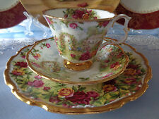 Royal Albert Trio - **A Celebration Of The Old Country Roses Garden** Stunning