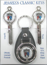 Ford CROWN VICTORIA Crest Lion Deluxe Classic White Gold Key Set 1955 1956 1957