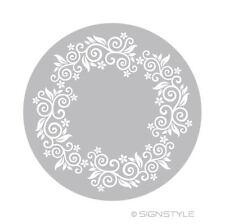 Airbrush Schablonen - Mylar Torte 3 - Floral Ranke Ornament Tortenschablone D24