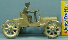 """PRICE CUT ORIG OLD 1920s IVES CAST IRON TOY RUNABOUT, 2 SEATS, 5"""" LONG 2"""" HI T41"""