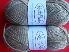 Knit Picks Wool of the Andes Sport 100%wool yarn, Mink Heather, lot of 2
