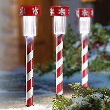 Garden Solar White LED Stick Light Outdoor 10x Christmas Decor  36039