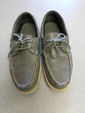 Ralph Lauren Polo gray leather, moc toe, boat shoes, Mens 11.5 D
