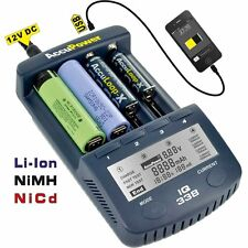 AccuPower IQ338 Battery Charger Analyzer Tester Li-ion NiMH NiCd Rechargeable