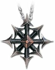 New Alchemy Gothic Chaostar Chaos Necklace Pewter Metal-Wear P146
