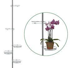 Teleskop-Blumenregal Blumen-Regal mit 5 runden Abstellflächen elegant verchromt