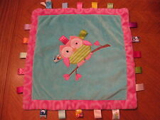Taggies Oodles Owl Cozy Lovey Security Tag Soft Satin Blanket by Mary Meyer