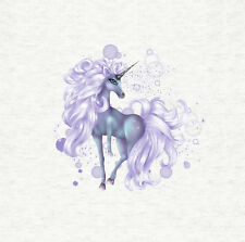 Unicorn, Purple Magical Unicorn - Fabric Cushion /Upholstery Craft Panel