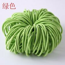 100PCS Girl Elastic Rope Rubber Hair Ties Ponytail Holder Head Band Hairbands